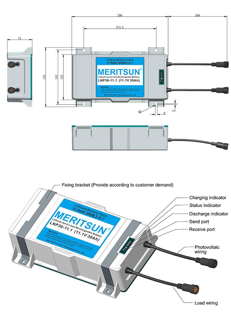 energy saving lithium battery for solar lights customized for garden-3