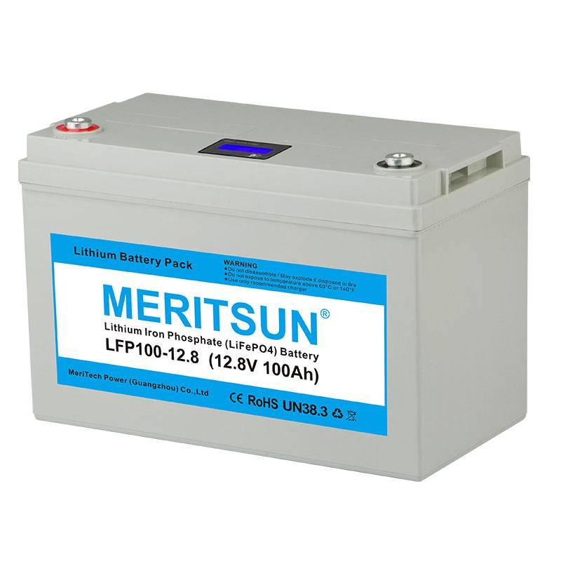 APP Bluetooth Control 12V 100Ah Solar Li-ion Lipo LiFePO4 Lithium Battery Pack-2