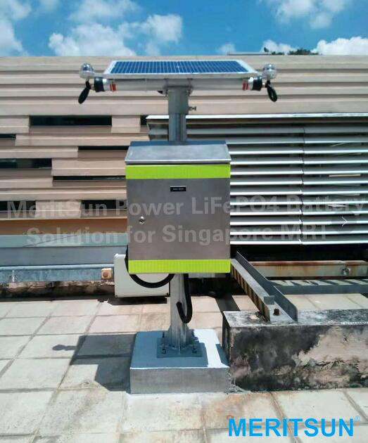 solar monitoring stations in Singapore MRT stations power