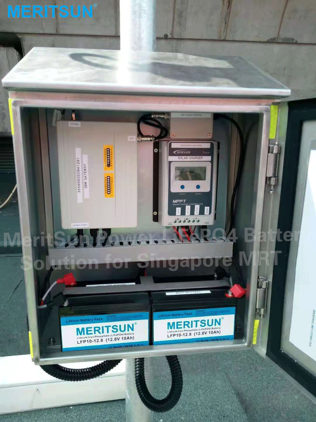solar monitoring stations in Singapore MRT stations battery