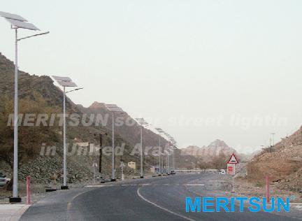 MERITSUN solar street lighting in United Arab Emirater