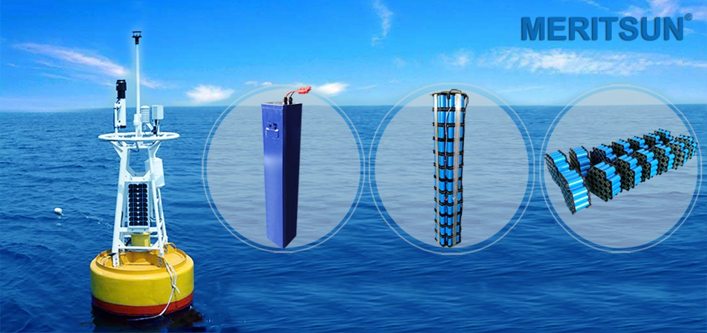 MERITSUN Lithium Battery Supply For Marine Monitoring System
