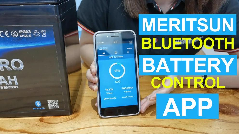 Meritsun 12V/24V LiFePO4 Battery With Bluetooth Control APP