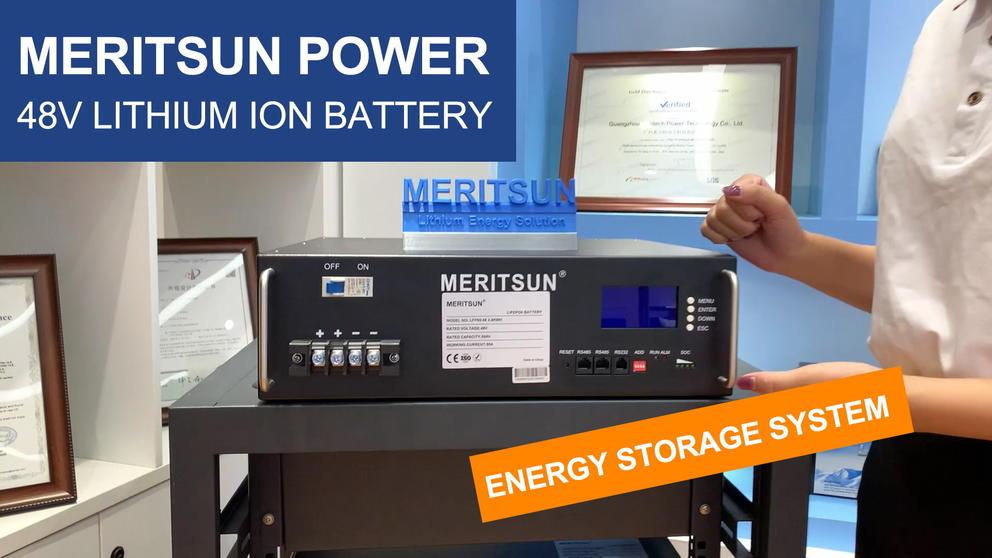 Meritsun 48V  Lithium-ion-battery (Energy Storage System)