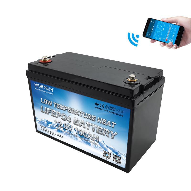 Low Temperature Lifepo4 12v 100ah Lithium Ion Battery With Bluetooth