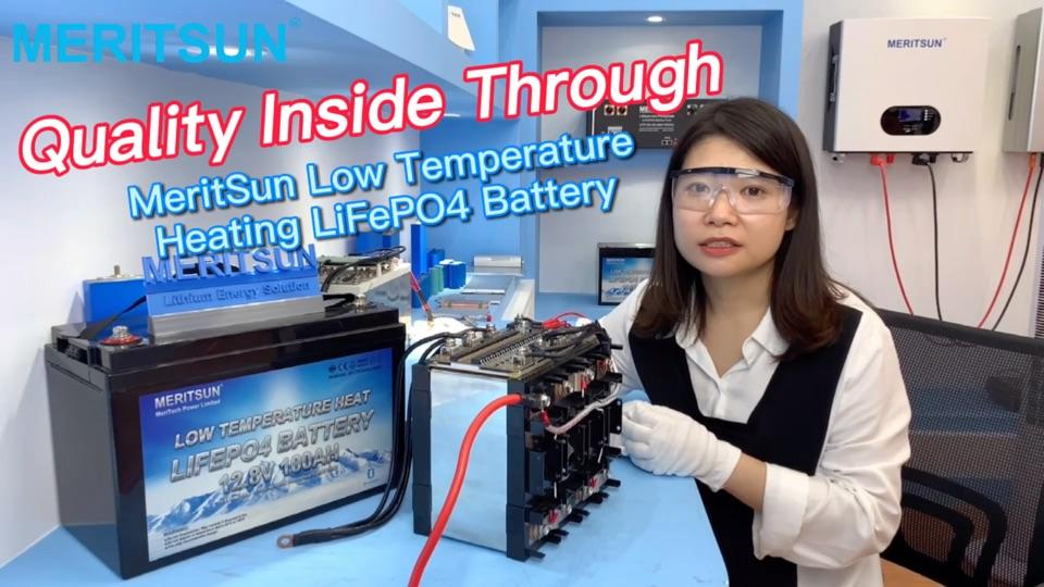 MeritSun Low Temperature Heating LiFePO4 Battery Quality Inside Through