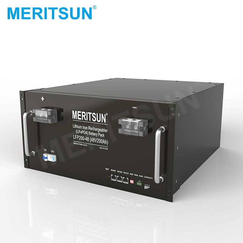 MeritSun 51.2V 200ah 10kwh power wall LiFePO4 48V lithium ion battery for ESS Energy Storage System