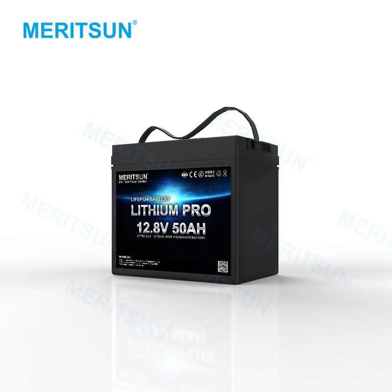 MeritSun Solar PV panel Battery pack RV batteries 12v lithium ion phosphate iron 12V deep cycle 100AH LITHIUM BATTERY