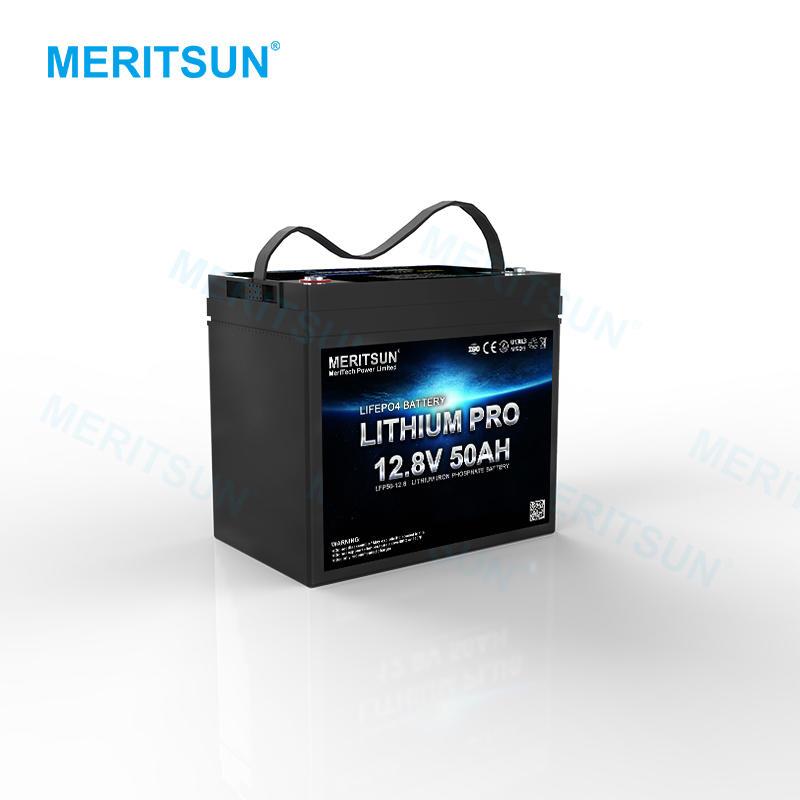 MERITSUN Deep Cycle Lifepo4 Lithium Ion Battery 12v 50ah Liion battery