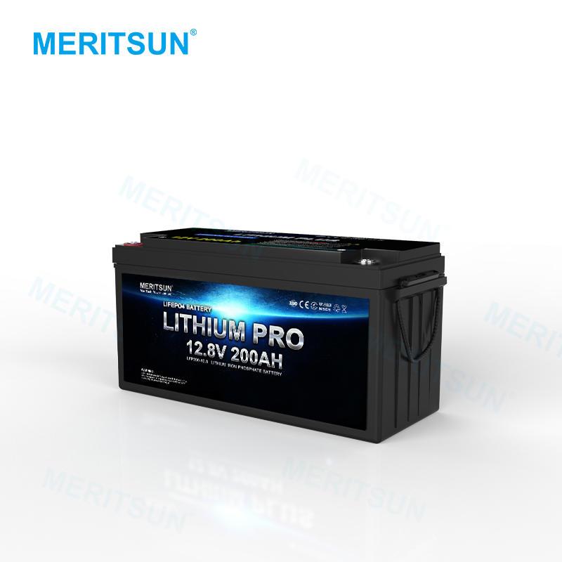 MeritSun 12v 200ah Battery Manufacturers for Solar Energy Storage System