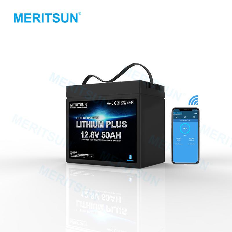 Bluetooth APP Control Storage Batteries 12v 50ah LiFePO4 Lithium Ion Battery 50AH for RV