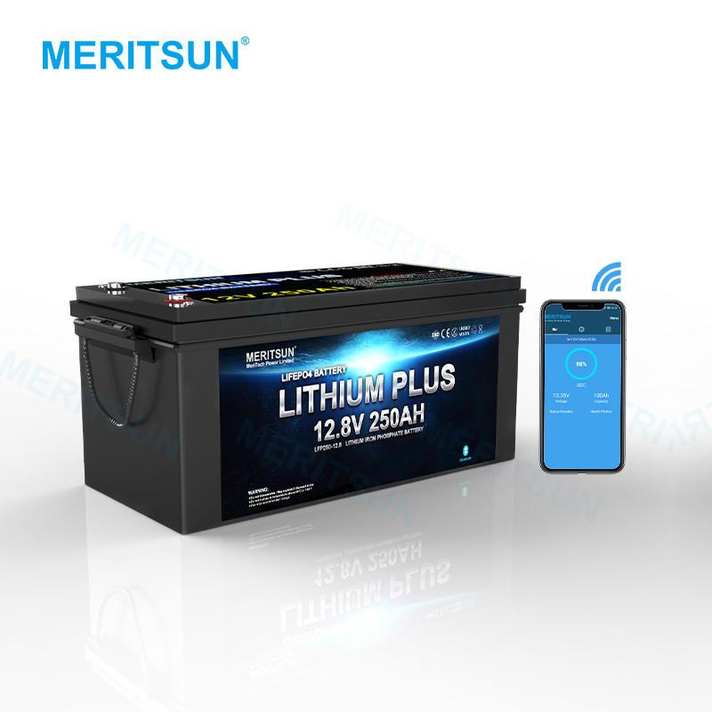 MeritSun APP Control Buletooth 12V 300Ah Lifepo4 Lithium ion Battery for Home Storage