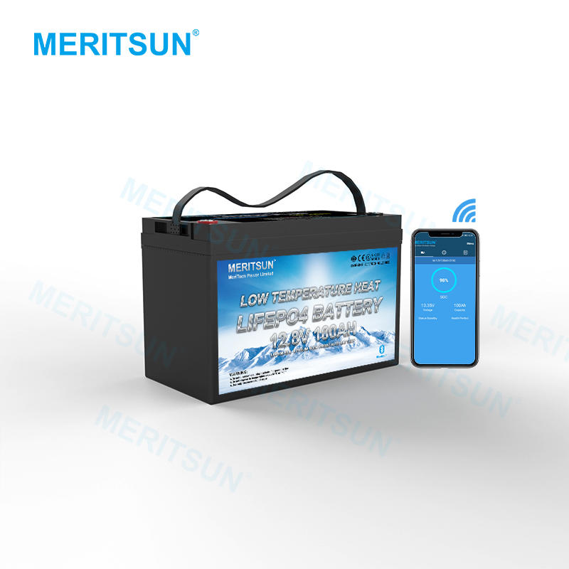 Low Temperature Heating 12V 100Ah Lifepo4 Lithium Ion Rechargeable Battery Pack with BMS