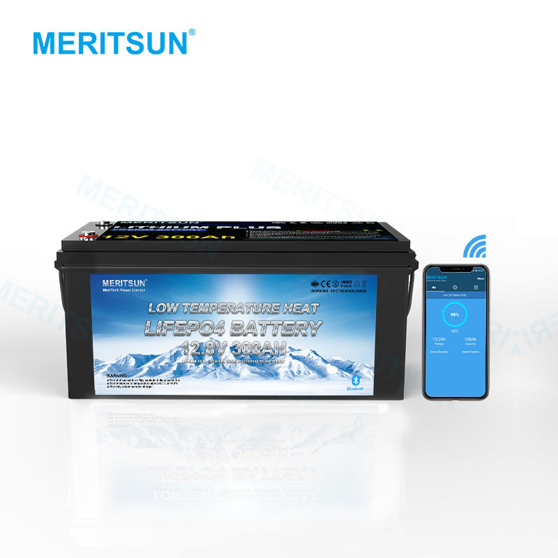 Meritsun Low Temperature Lifepo4 Battery Pack 12v 300ah Lifepo4 Battery and BMS 12v 300ah With Bluetooth