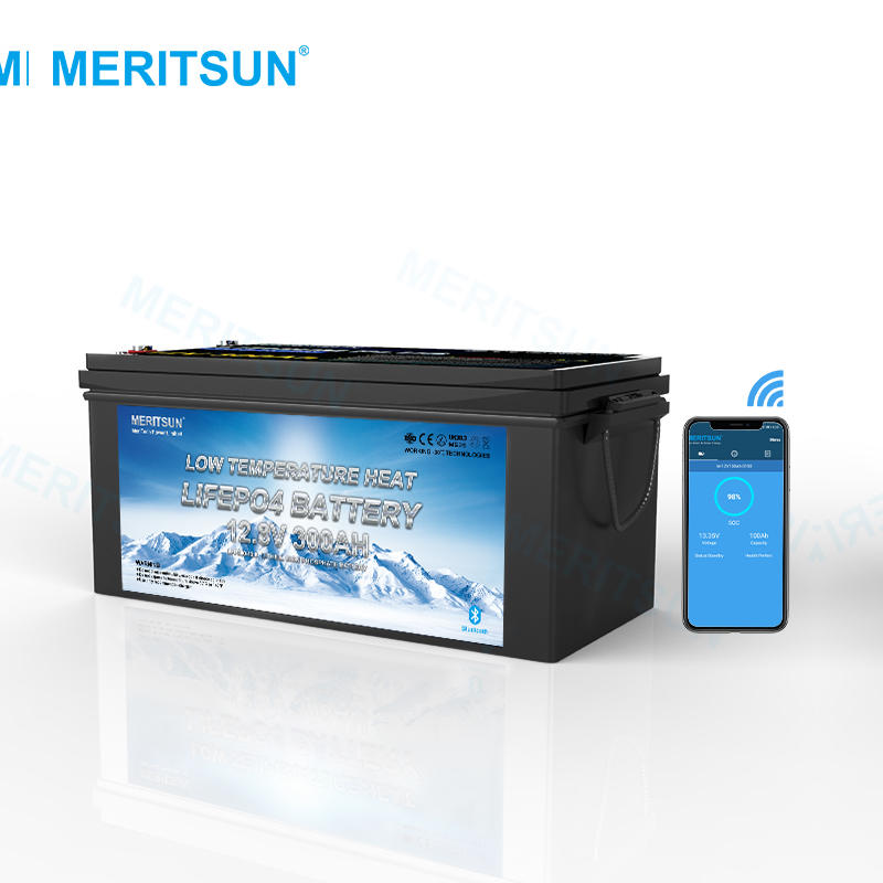 High Quality Low Temperature Heating 12V 300ah Lifepo4 Battery With Smart BMS for Solar