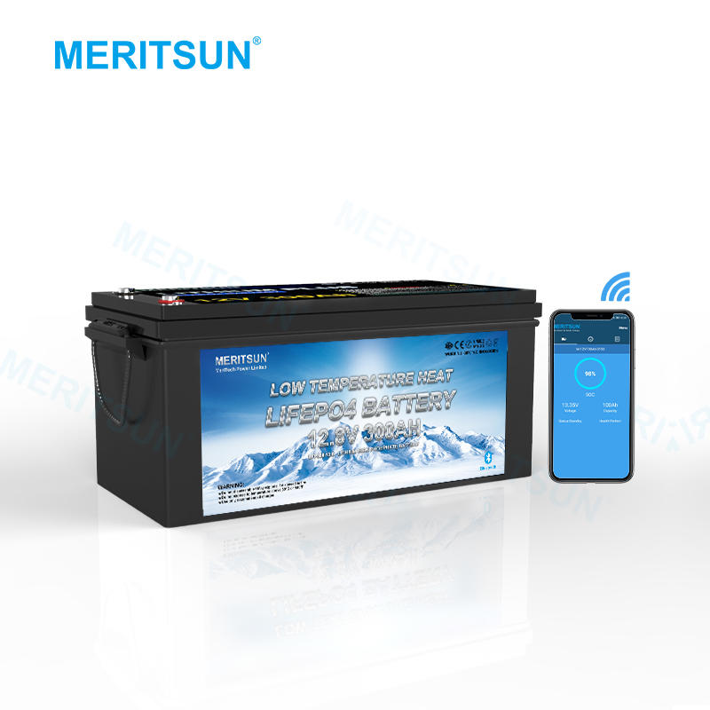 Meritsun 12V Lithium Ion Battery 12V 300Ah Lithium Low Temperature Battery With Bluethhtooth
