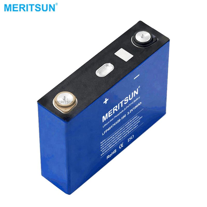 MeritSun Lithium ion Battery 3.2V 100ah battery DIY 12V 24V 48V 96V Solar System cell
