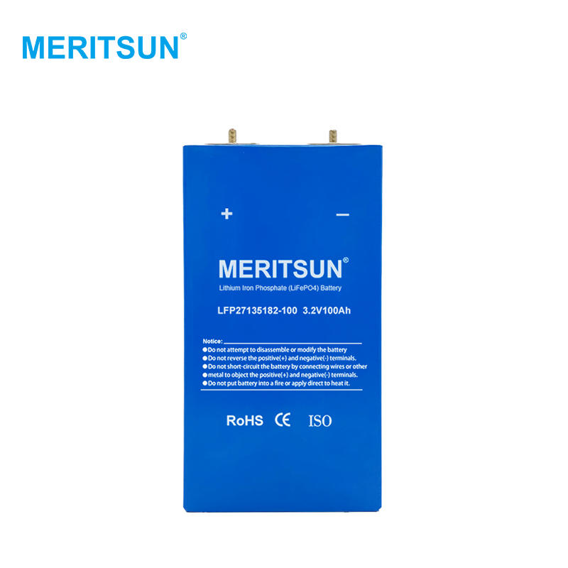 Meritsun High Quality Prismatic for Solar Storage LiFePO4 Battery Cell Lifepo4 3.2V 100AH