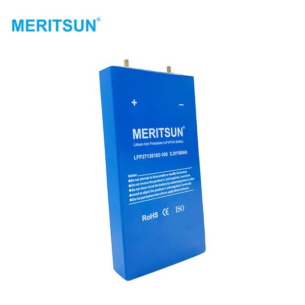 MERITSUN 3.2V 100Ah Lifepo4 Battery 100Ah Deep Cycle Prismatic Cell Solar Phosphate Battery for solar