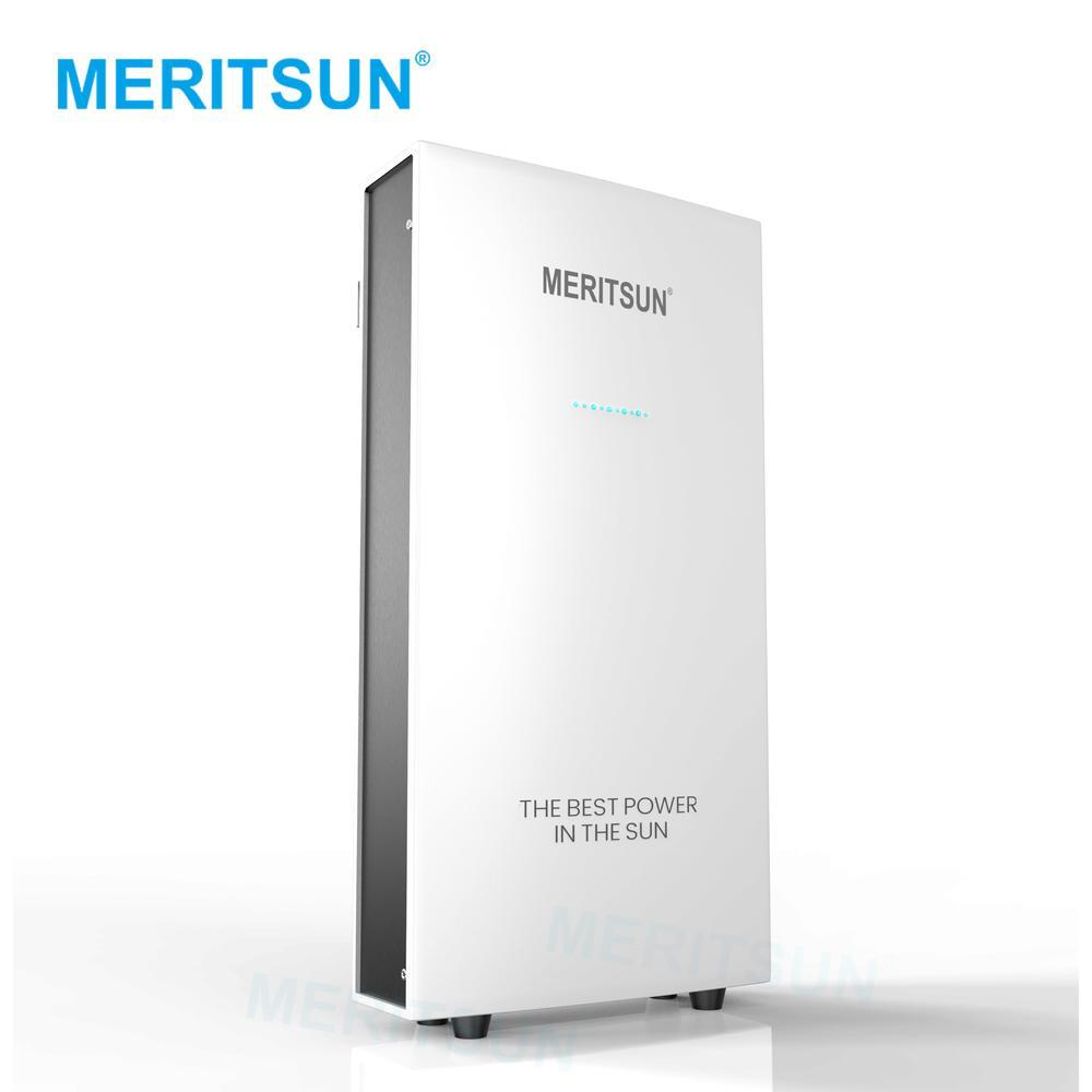 Patented technology MeritSun Powerwall 2 solar energy System built in inverter and Lithium battery