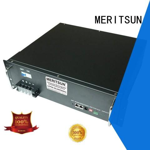 MERITSUN telecom storage battery systems customized for residential