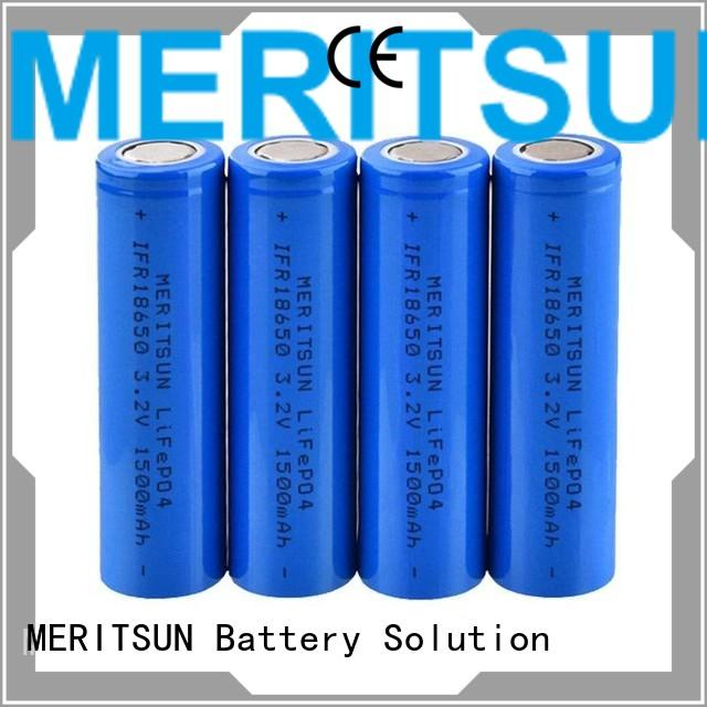 MERITSUN 3.7 volt lithium ion battery factory direct supply for flashlight
