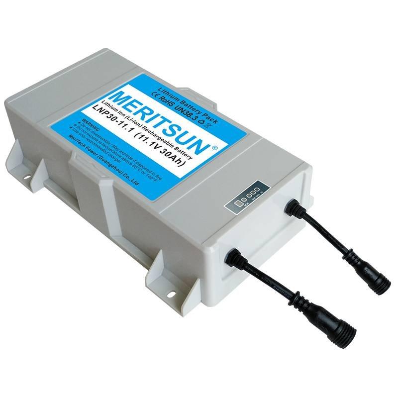 MERITSUN 12V 30Ah Solar Street Light Rechargeable Lipo Lithium ion Battery Solar Street Light Lithium Battery image22