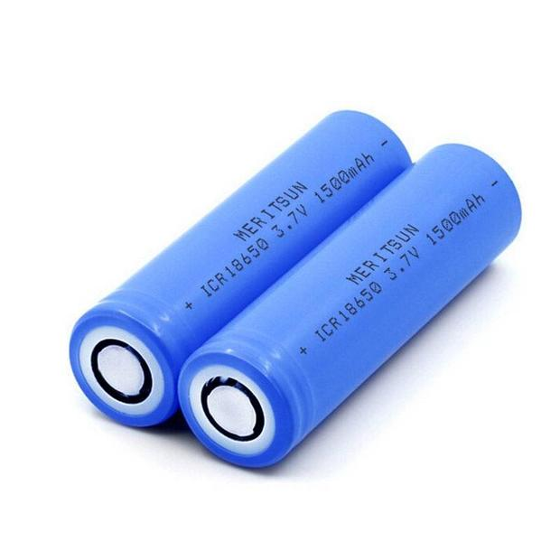 High Drain Battery ICR 18650 1500mAh 3.7V 3.6V Lithium Li-ion Rechargeable Battery