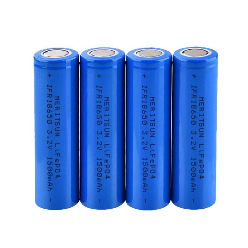 MERITSUN IFR 18650 3.2V 1500mAh Lithium Li-ion Li ion LiFePO4 Rechargeable Lithium ion Battery Cell Li-ion Battery Cell image16