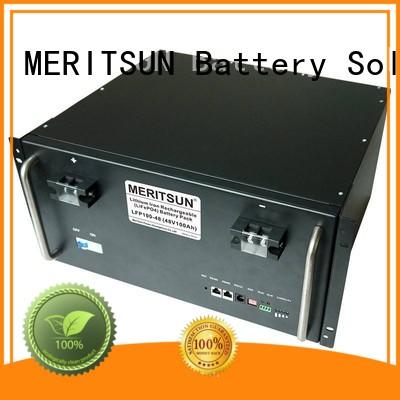 MERITSUN stable battery energy storage lifepo4 lithium for base transceiver station