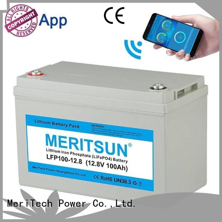 MERITSUN lightweight 12v lifepo4 lithium battery for villa