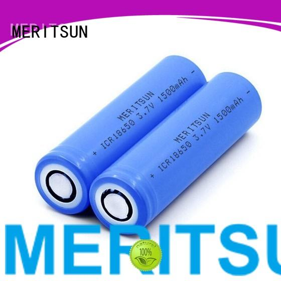 capacity matching 18650 battery manufacturers high energy density for telecom MERITSUN