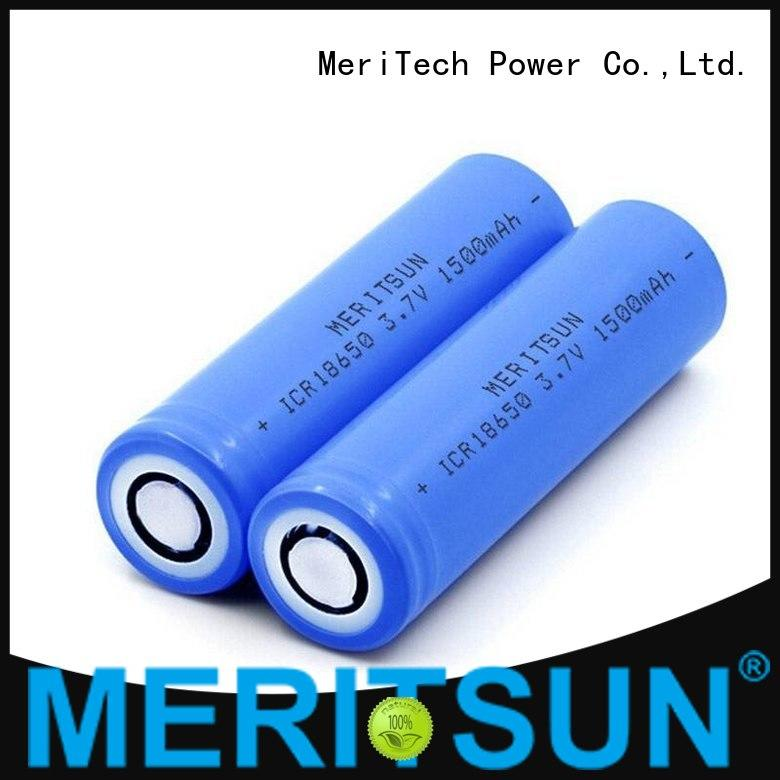 MERITSUN long-run cost 18650 battery cell manufacturer for power bank