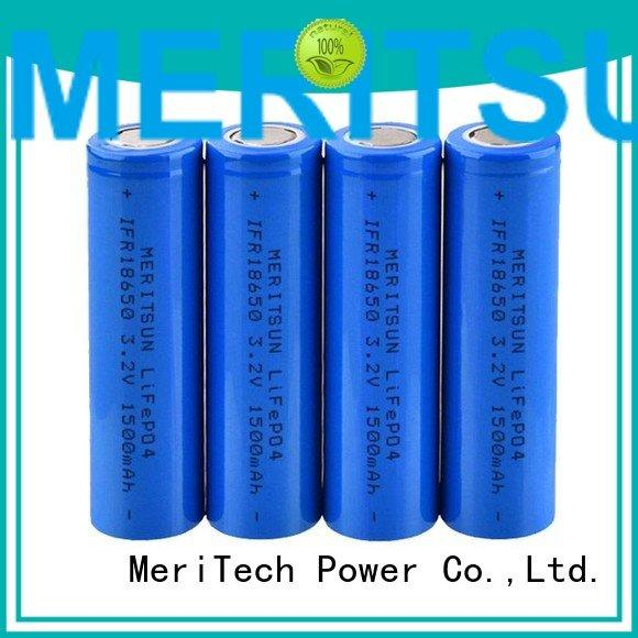 MERITSUN Brand liion 1500mah li ion battery cell drain icr