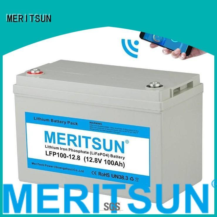 MERITSUN Brand 100ah ion 100dod lifepo4 battery price 50ah