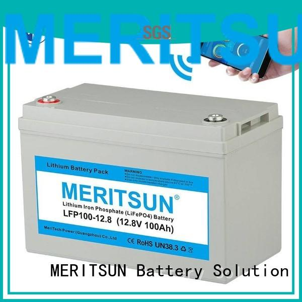 MERITSUN Brand cycles 1c 12v lifepo4 battery price lcd