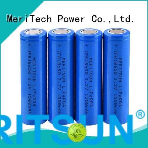 MERITSUN high energy density 18650 lithium ion cells manufacturer for power bank