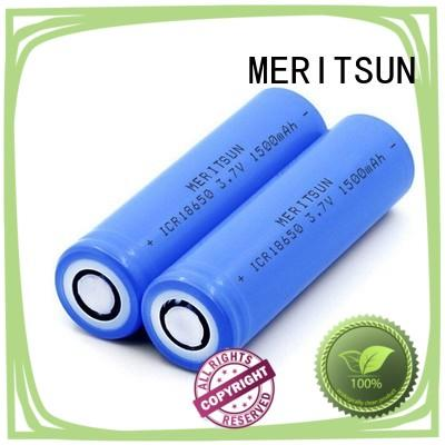 MERITSUN long-run cost li ion battery cell manufacturer for flashlight