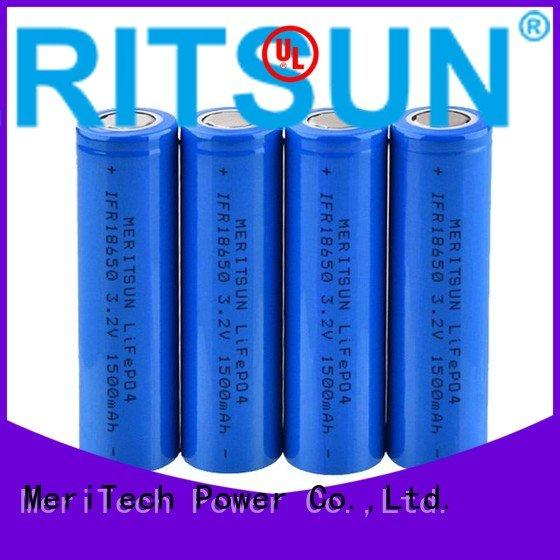 battery rechargeable li ion battery cell MERITSUN Brand