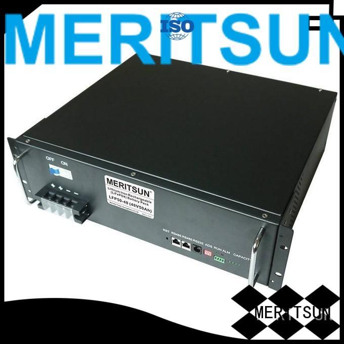 solar energy storage system telecom energy lifepo4 MERITSUN Brand battery energy storage system
