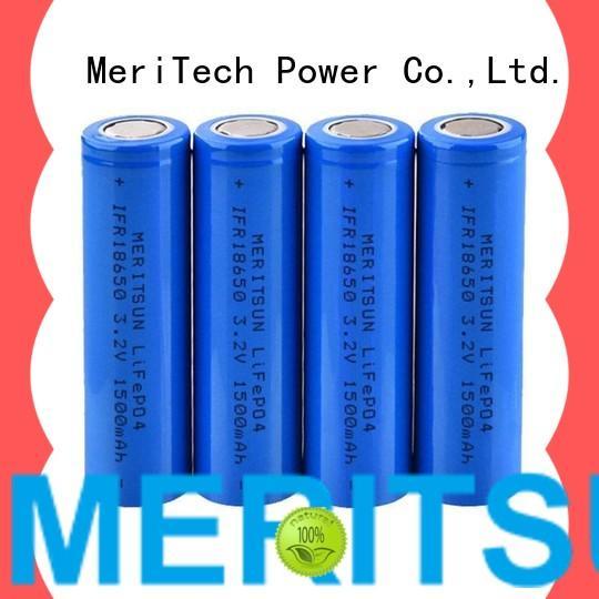 MERITSUN high drain icr 18650 battery manufacturer for power bank