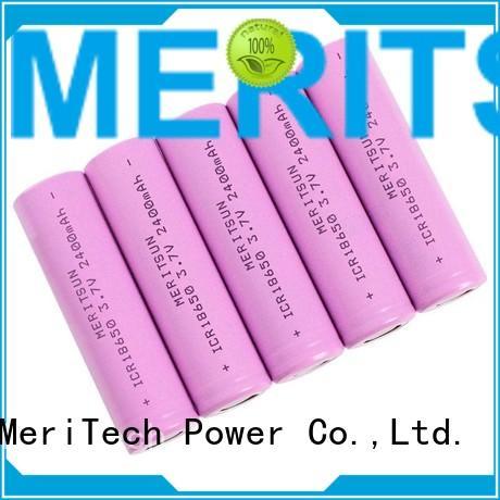 MERITSUN Brand drain 18650 custom lithium ion battery cells
