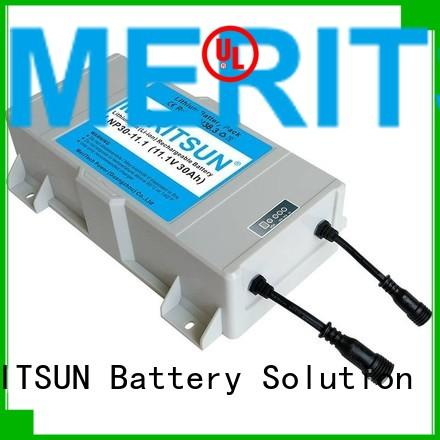 MERITSUN Brand lipo rechargeable solar street light lithium battery manufacture