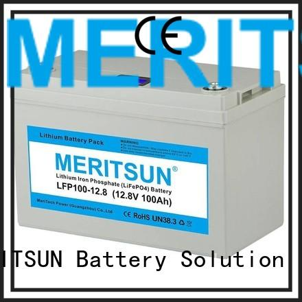 Hot cycles lifepo4 battery price battery MERITSUN Brand