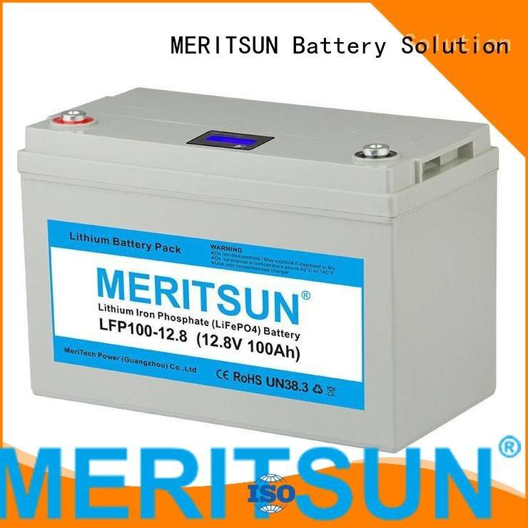 Wholesale cycle 50ah lifepo4 battery pack MERITSUN Brand