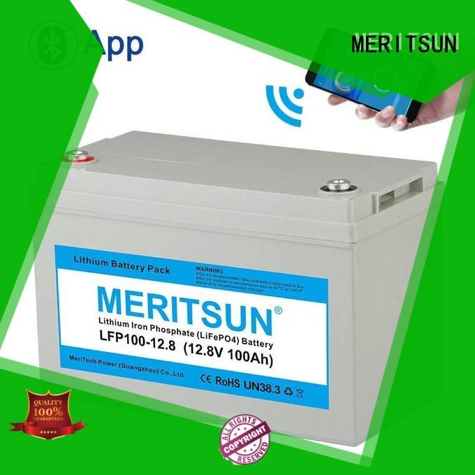 MERITSUN deep cycle lithium battery manufacturers series for house