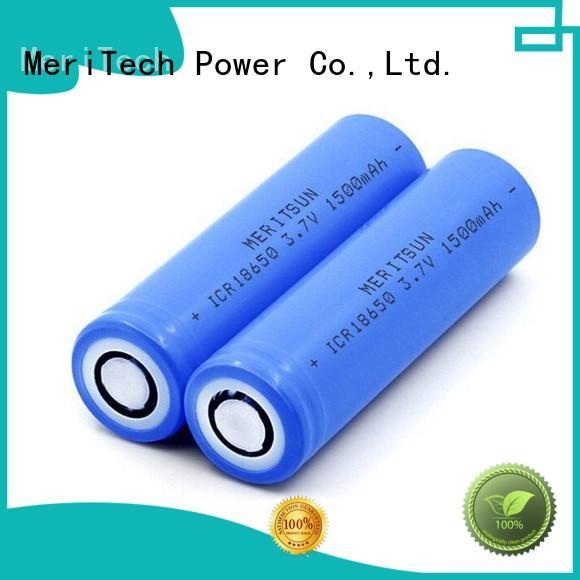 MERITSUN high drain 18650 battery cell manufacturer for power bank