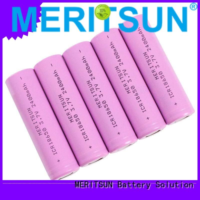 18650 lifepo4 drain lithium ion battery cells MERITSUN manufacture