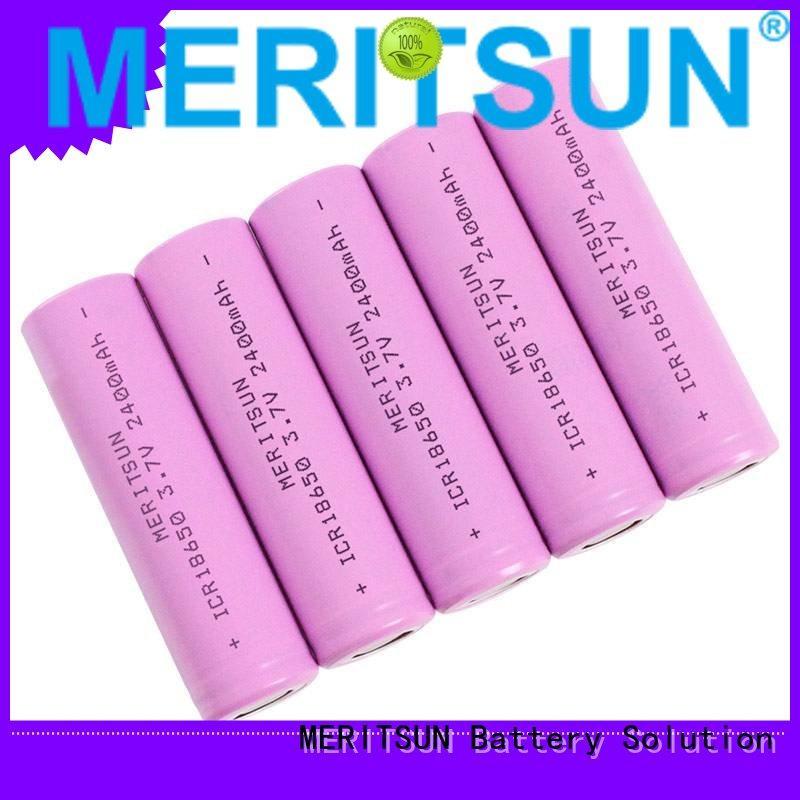 18650 lifepo4 drain lithium ion battery cells MERITSUN manufacture