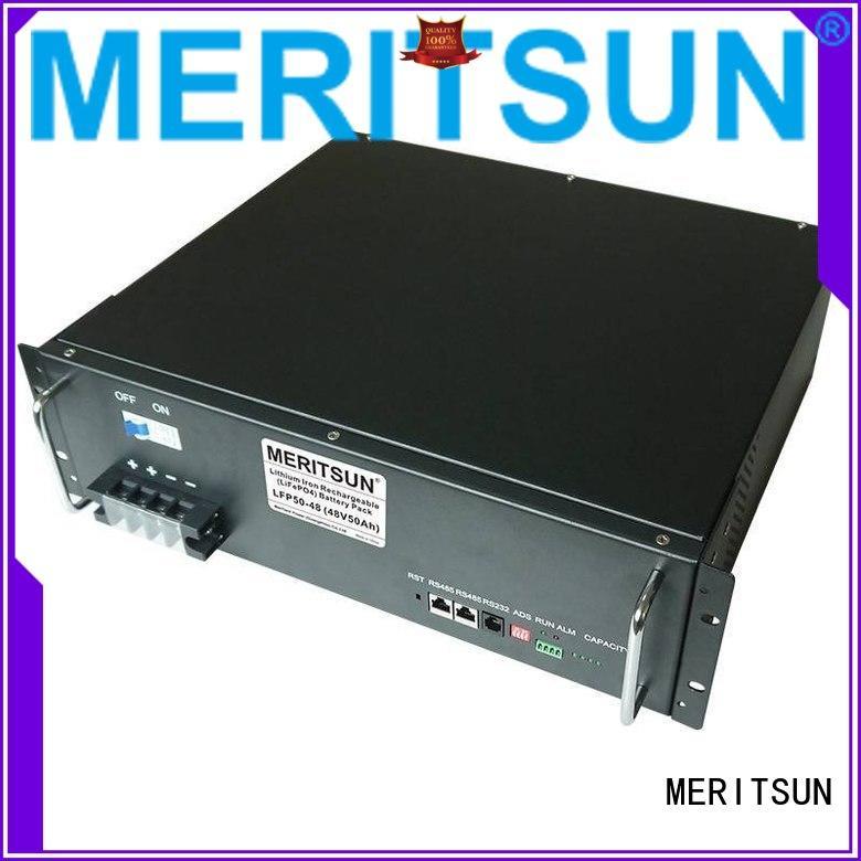 telecom lithium 100ah OEM battery energy storage system MERITSUN